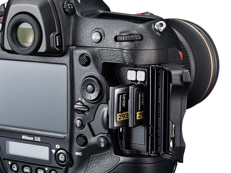Logement carte Nikon D5 XQD