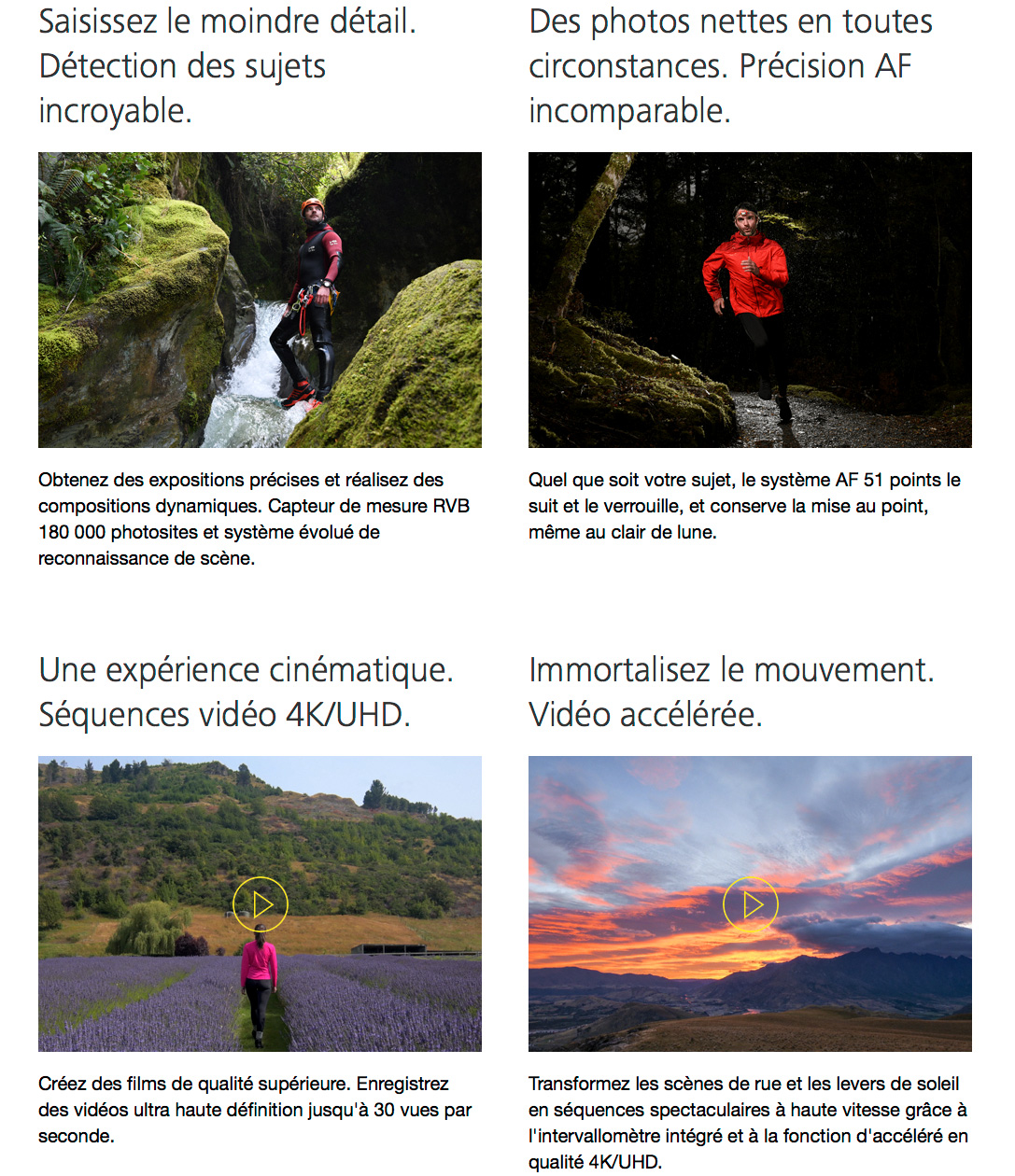 Nikon D7500 vidéo 4K